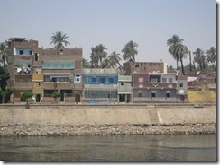 I love some of the bright colors used on the banks of the Nile.