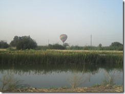 There was a fairly colorful mix of hot air balloons.